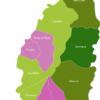 Map Saint Lucia Districts Dennery