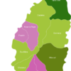 Map Saint Lucia Districts Gros_Islet