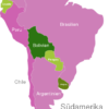 Map South America Countries Bolivien