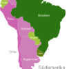 Map South America Countries Brasilien
