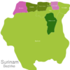 Map Suriname Districts Brokopondo