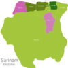 Map Suriname Districts Commewijne