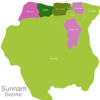 Map Suriname Districts Coronie