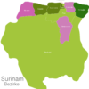 Map Suriname Districts Marowijne