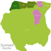 Map Suriname Districts Nickerie