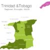 Map Trinidad Tobago Regions Arima