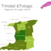 Map Trinidad Tobago Regions Couva-Tabaquite-Talparo