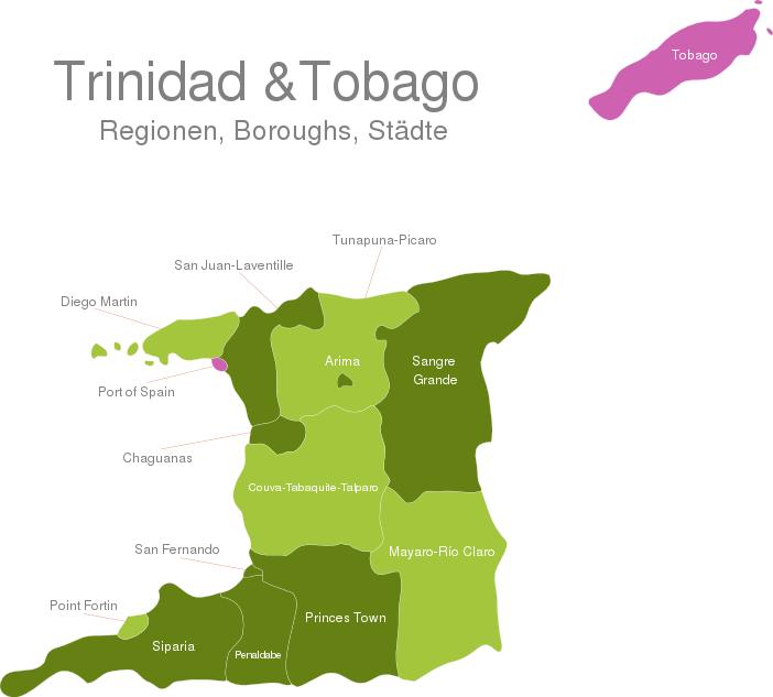 Trinidad Tobago Regions