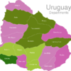 Map Uruguay Departments Colonia