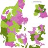 Map Denmark Post Codes Digit PLZ-10-DK_1_