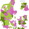 Map Denmark Post Codes Digit PLZ-11-DK_1_