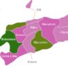 Map East Timor Timor Leste Districts Bobonaro