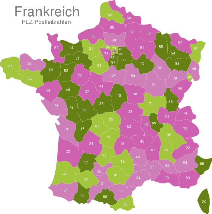 France Post Codes Digit