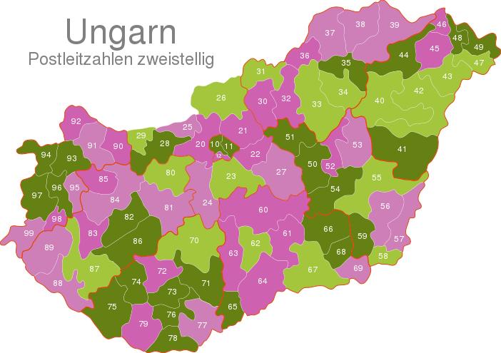 Hungary Post Codes Digit