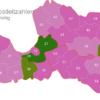 Map Latvia Post Codes Digit PLZ-21-LV_1_