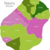 Map Nauru Districts Anabar