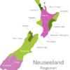 Map New Zealand Regions Auckland
