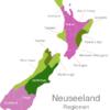 Map New Zealand Regions Canterbury