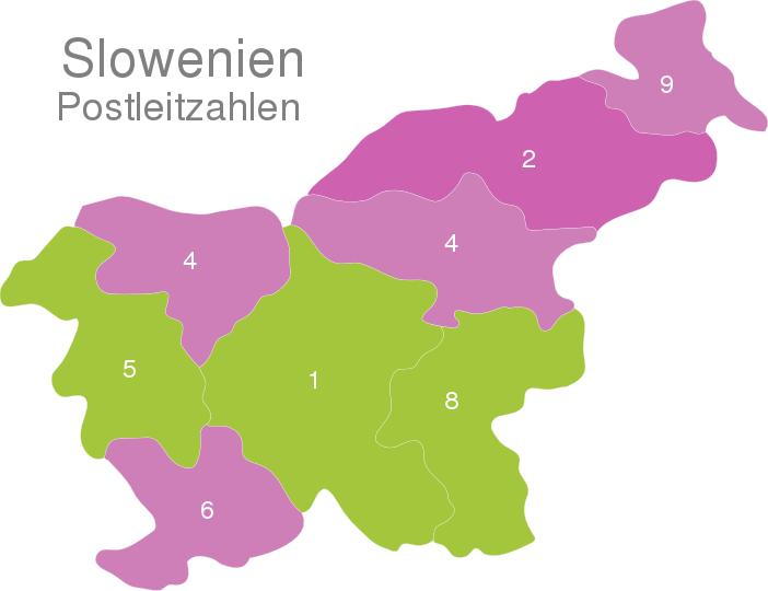 Slovenia Post Codes